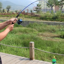 1.2M Telescopic Fishing Rod Spinning Fishing Rod Fast Action Fishing Lure Section Feeder Sea Fish Tackle Pole Equipment