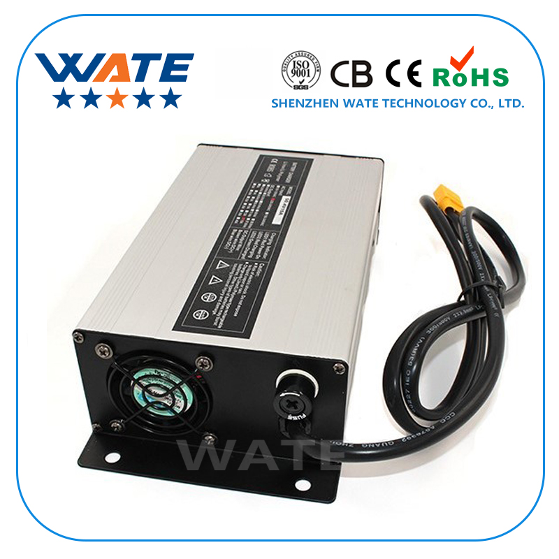 54.6V 15A Charger 48V Li-ion Battery Smart Charger Used for 13S 48V Lithium Battery Input 220V Aluminum case