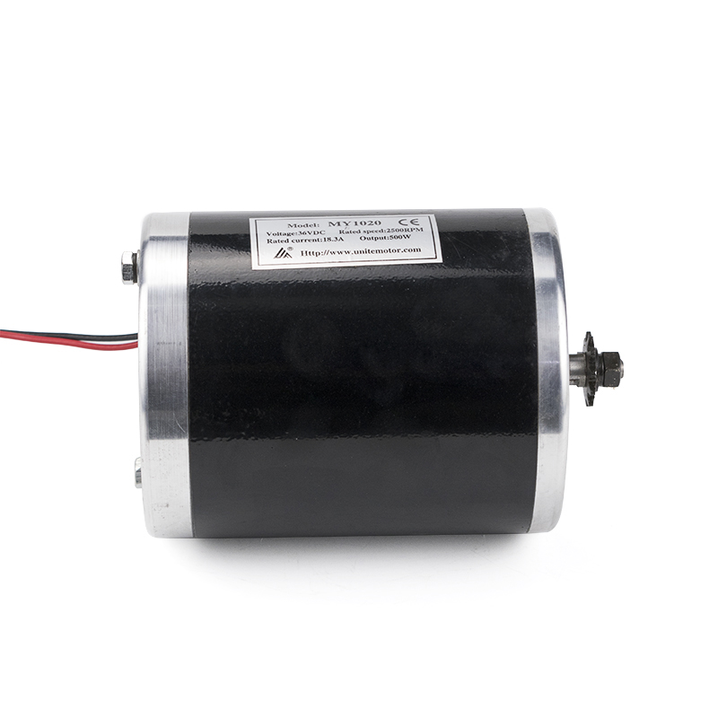 MY1020 500W 1000W 36V 48V DC High Speed Brush Motor Electric Bicycle Scooter E-Bike Dirft Bike Motors Mid Drive Without Foot
