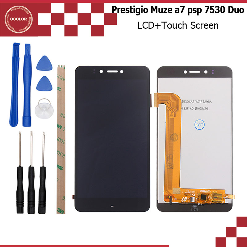 Ocolor For Prestigio Muze A7 Psp 7530 Duo Lcd And Touch Screen 5.3inch Digitizer Panel Glass Assembly Repair Part+tool+adhesive To Clear Out Annoyance And Quench Thirst Cellphones & Telecommunications