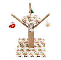 18 Stable Jute Cat Climb Tree Holder Cat Tower Toy Condo Furniture Scratch Post Cat Jumping Toy with Ladder for Kittens Pet