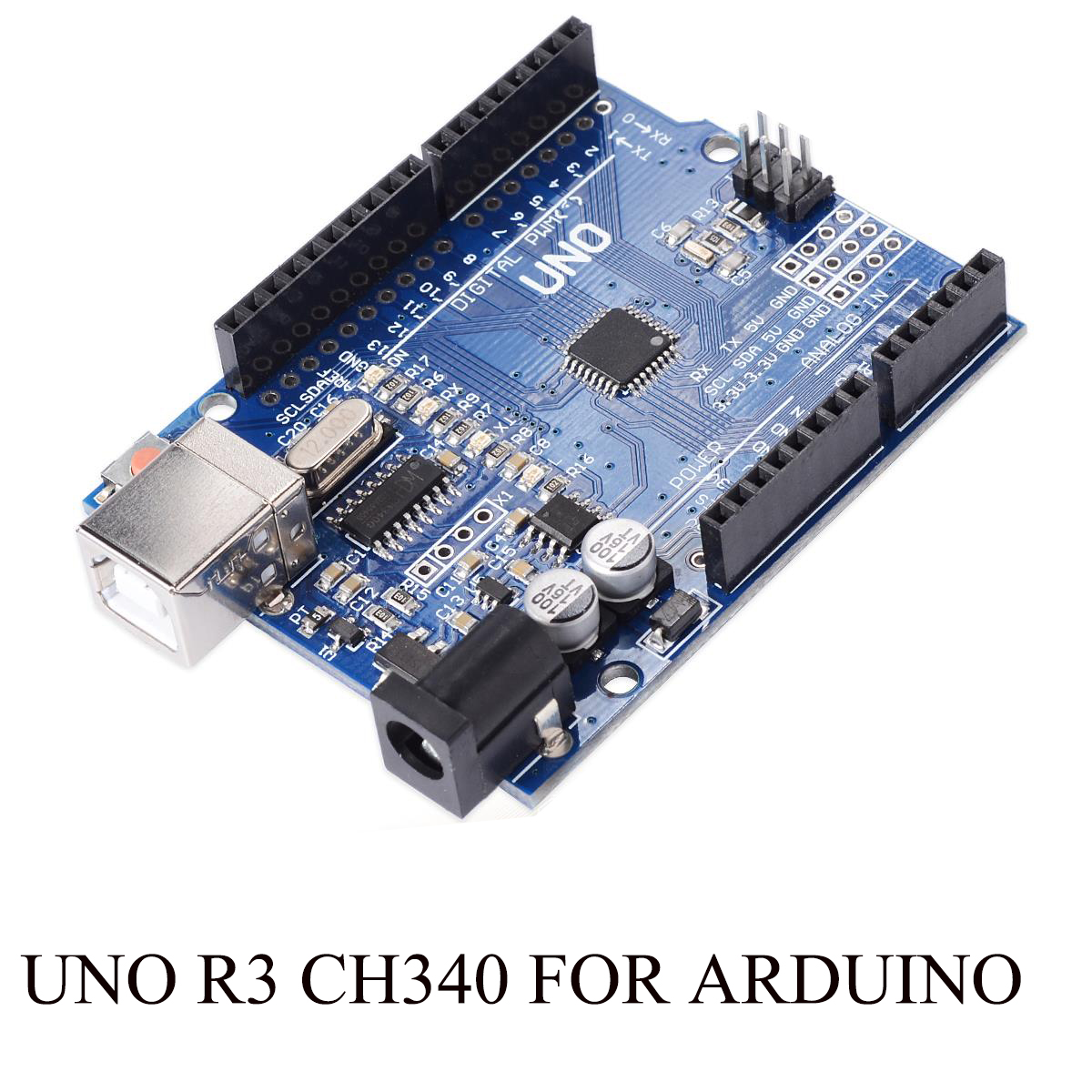 10PCS/LOT UNO R3 MEGA328P CH340 CH340G for Arduino UNO R3 + USB Cable Free Shipping
