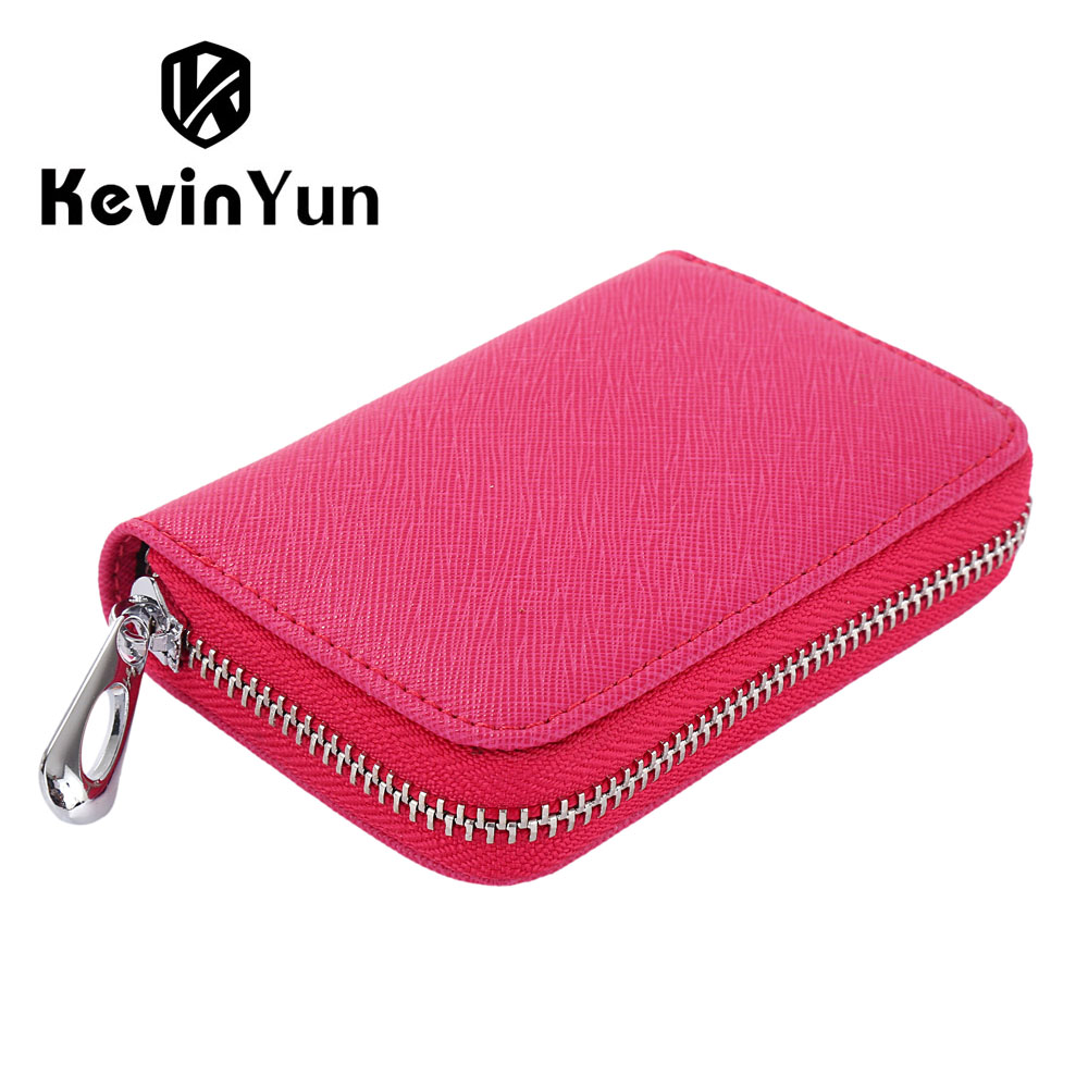 huge discount a5479 b5a4d US $19.8 |KEVIN YUN Designer Brand Women Credit Card Holder Split Leather  Ladies Small Card Case Wallet-in Card & ID Holders from Luggage & Bags on  ...
