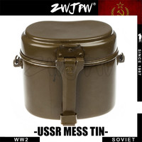 Surplus Original WW2 Soviet Army Mess Tin Military Lunch Box Aluminum Canteen RU/102201