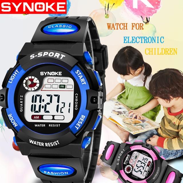 Sports Kids Digital Watches Student Children Boy Girl Clock Child LED Luminous W
