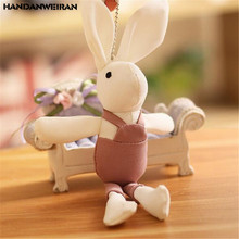 1PCS Mini Strap Rabbit Plush Toy Small Pendant Korean Cute Rabbits Stuffed Gift For Kids 2019 New Hot Sale 20CM HANDANWEIRAN