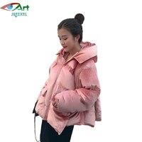JQNZHNL Fashion Winter Coats Women Short Thick Cotton Jacket Parkas Fashion Gold Velvet Casual Hooded Warm
