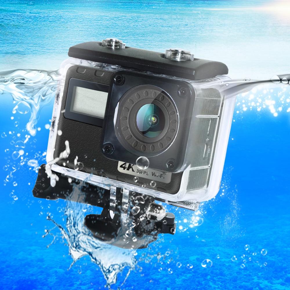 4 K 16MP écran tactile Wifi caméra extérieure Ultra HD 30 m Sous-Marine Étanche Numérique caméra vidéo À Distance Sport caméscope de casque
