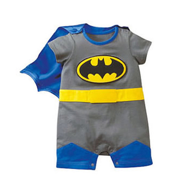 f696be9ae Batman Baby Boy Clothes Full Sleeve Superman Baby Rompers O neck ...