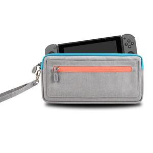 Image 3 - 新しい ns nintend スイッチ収納袋スリムキャリングケース保護任天堂コンソール喜び con ゲームアクセサリーハンドバッグ