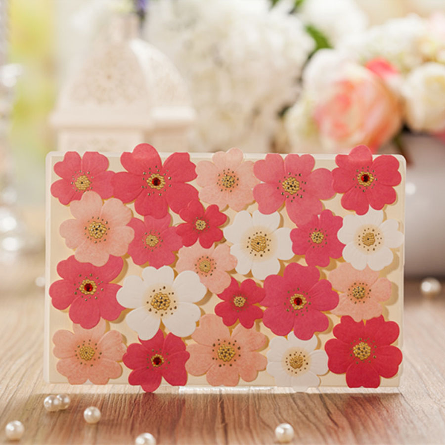 50pcs Elegant Rose Flower Laser Cut Wedding Invitations Card ...
