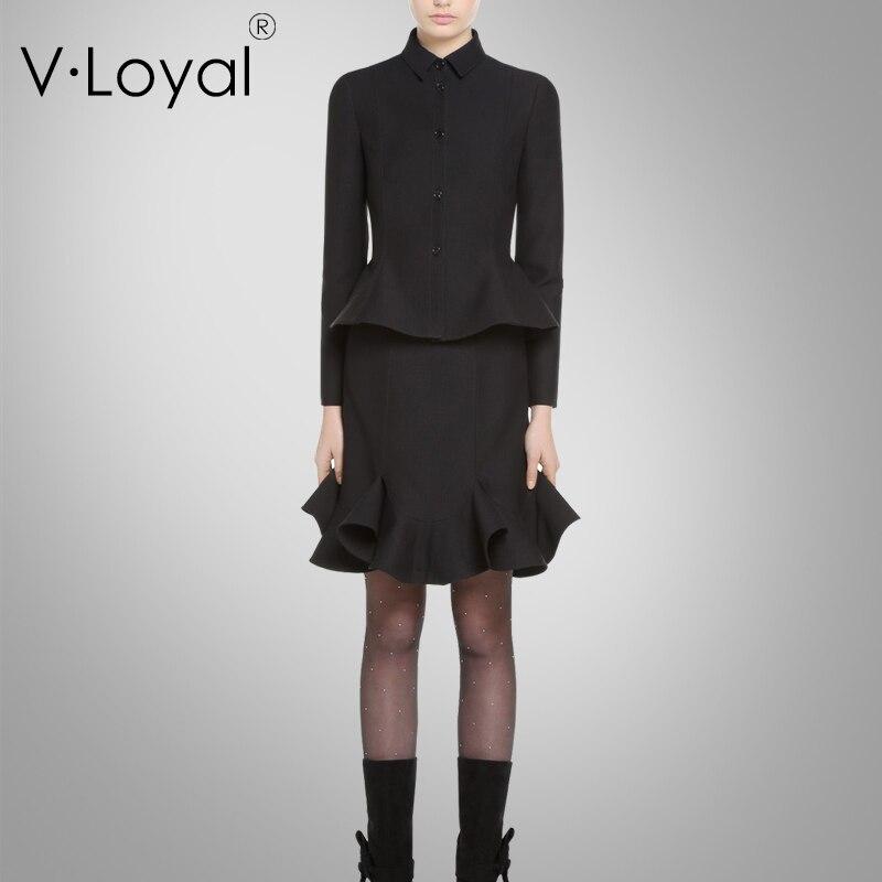 Autumn new fashions, leisure suits, jackets, lotus leaf half skirt suits.