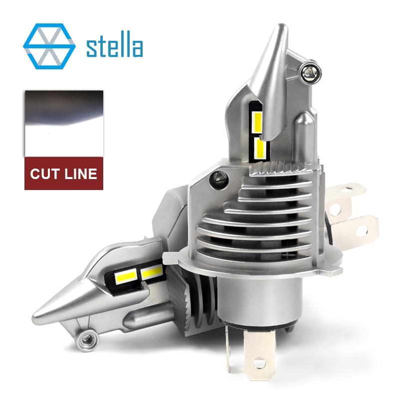 Stella h4/9003/hb2 conduziu as lâmpadas 12 v 24 v 70 w 11600lm do diodo dos bulbos do farol para carros o feixe alto mergulhou a microplaqueta da categoria do automóvel das luzes de névoa do feixe