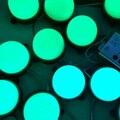Dc24v ; WS2811 IC ; IP68 ; 80 mm de diâmetro ; endereçável ; 2.88 W ( 12 LEDs ) ; cor cheia do RGB ; tampa leitosa ; led pixel módulo