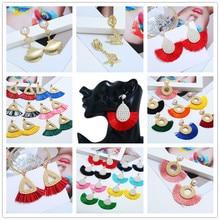 Face-Slim Simulated Pearl Tassel Long Earrings For 2019 Women Hand-Woven Rattan Retro Sector Star Popular Drop Earrings Jewelry цены