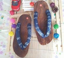 2017 Japanese font b Sandals b font Men s Heels Wooden Geta Kimono Yukata Clog font