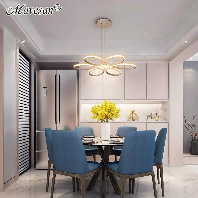 Новый современный светодиодный потолочный светильник для гостиной, спальни, столовой, алюминиевый корпус, для дома, для дома, для внутреннего освещения, приспособление AC90-265V