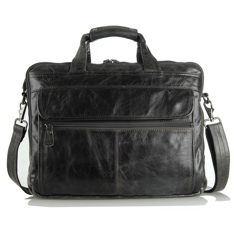 Nesitu Genuine Cow Leather Men's Messenger Bag Gentleman Business Bag Real Leather Men Briefcase 3 colors Vintage Handbag #J7146 guarantee genuine cow leather men s briefcase handbag messenger bag 6060