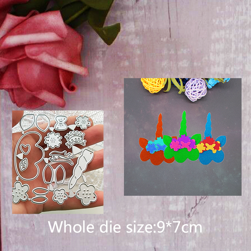 Build Up Unicorn  Metal Steel Cutting Embossing Dies For Scrapbooking paper craft home decoration Craft 9*7 CM