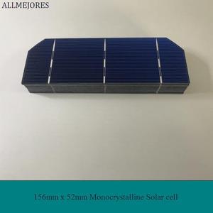Image 3 - ALLMEJORES Diy zonnepaneel kits 50 stks Monokristallijn 1.6 w 0.5 v zonnecellen 156mm * 52mm met genoeg tabben draad rail draad