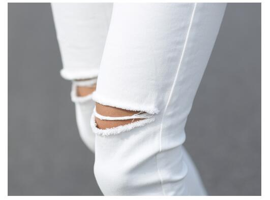 64a7e6e0b22 #1403 Destroyed jeans men Summer 2018 Casual White/Black ripped jeans men  High street Ankle length Men black ripped jeans -in Jeans from Men's  Clothing on ...