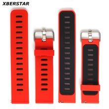 Reemplazo de la correa de reloj de pulsera de silicona para xiaomi huami amazfit deportes smart watch