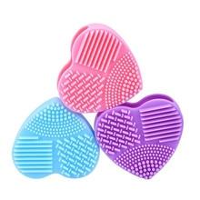 قفاز تنظيف البيض على شكل قلب من السيليكون قطعة واحدة ، فرشاة تنظيف المكياج ، فرشاة تنظيف أدوات الغسيل ، فرشاة تنظيف موافق 0806