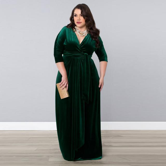 Sexemara de mãe da noiva vestidos frete grátis da luva do tampão plissado vestidos plus size para casamentos vestido longo