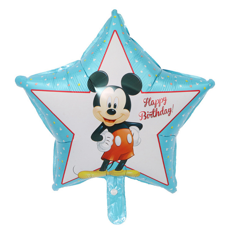 1pc Mickey Minnie balloons foil material birthday balloons Minnie Mickey star balloons party ballons