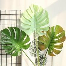 10 Pcs Artificial Green Plant Material Turtle Leaf Mexican Autumn Simulation Tropical Decoration