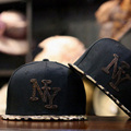 2016 New Fashion Leopard Leather Snapbacks Bone New York Letters Embroidery Baseball Caps Hip hop Hats Gorras Chapeu Men Women