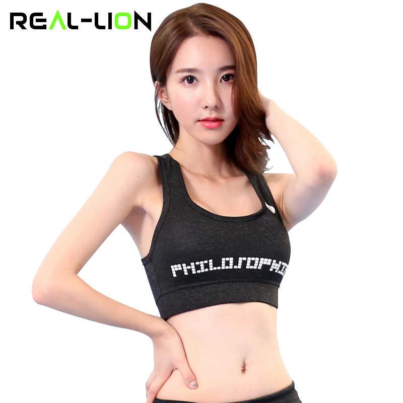 97aa4806ab RealLion Sport Bra Tops Plus Size Running Vest Female Gym Clothing for Women  Underwear Fitness Sports