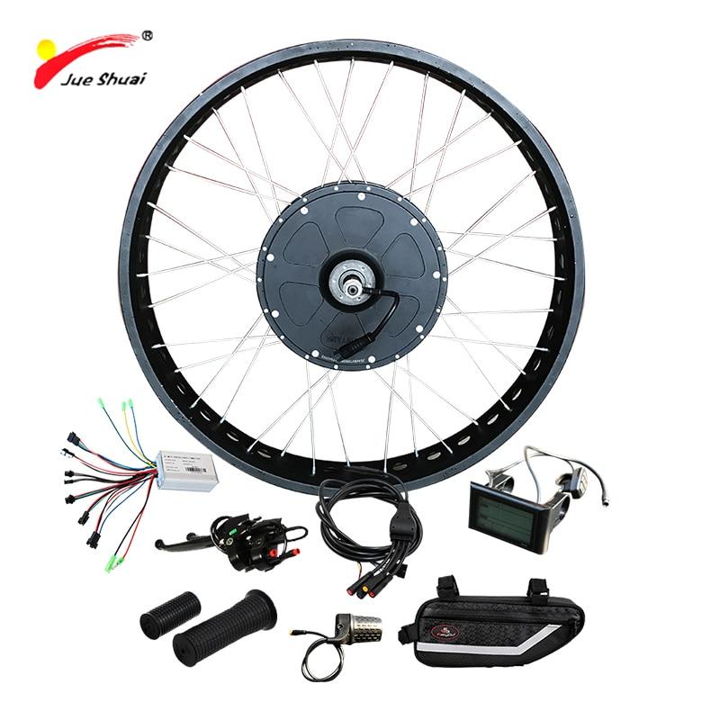 Free Shipping Electric Bike Kit 1000W for Snow Bike 4.0 Fat Tire Motor Wheel Powerful 48V 1000W Electric Bicycle Hub Motor