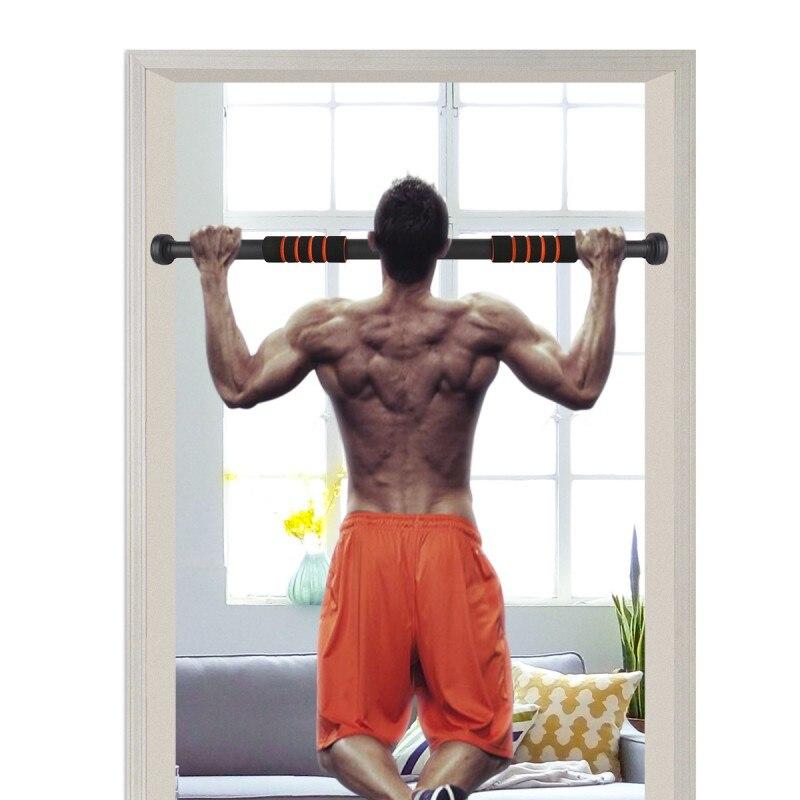 США Доставка новая дверь домашний тренировочный бар упражнения тренировка подбородок вверх выдвижные бары домашний горизонтальный бар фитнес оборудование
