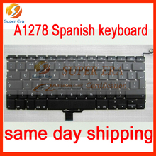 perfect testing for macbook pro 13.3inch A1278 Spainish keyboard SP Spain clavier without backlight backlit 2009-2012year