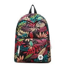 2017 Высокое качество женщины печати рюкзаки рюкзак для женщин рюкзак мода холст сумки ретро повседневные школьные сумки дорожные сумки