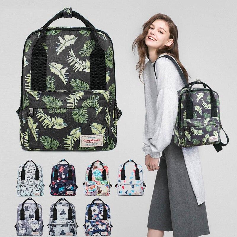 Fresh Style Women Backpacks Floral Print Bookbags Nylon Backpack School Bag For Girls Rucksack Female Travel Backpack