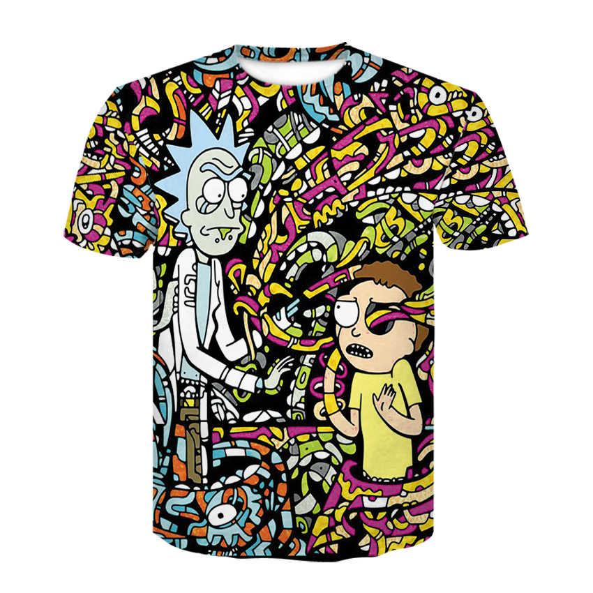 2018 летняя Модная брендовая футболка с 3d принтом Rick and Morty для мужчин/wo, Мужская футболка в стиле хип-хоп, футболки больших размеров, женская рубашка