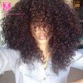 8А Бразильский Странный Вьющиеся Волосы 3 Пучки Чешские Вьющиеся Tissage Bresilienne Бразильского Kinky Фигурных Девы Волос Afro Kinky Вьющиеся