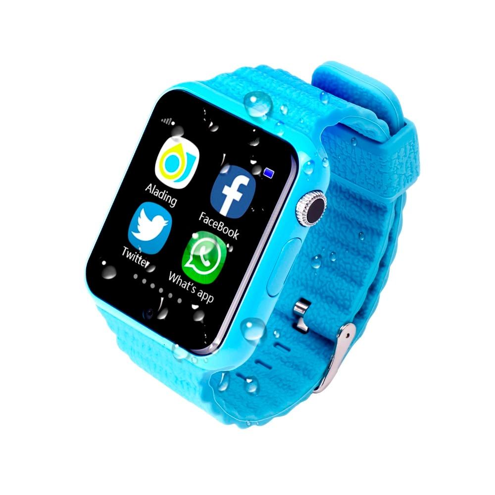 EnohpLX enfants montre intelligente V7K GPS écran tactile caméra SOS localisation dispositif bracelet Tracker enfant coffre-fort enfants montre PK Q90 - 5