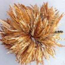100 шт/партия гризли седло для петуха длинные перья 5-6 дюймов природа перья для наращивания волос индийский головной убор платье ремесло