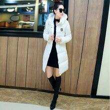 2016 Мода Зима теплая вниз С Капюшоном Куртки хлопка пальто Для женщины Твердые женские Толстые Ватные Куртки с длинным рукавом Хлопок теплый пальто