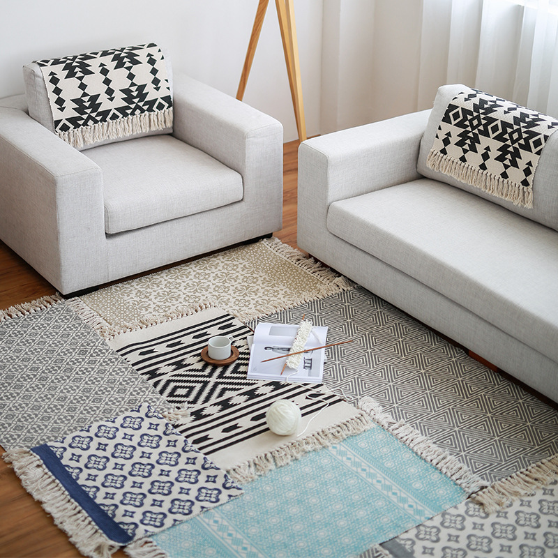 Handwoven Breathable Floor Mat Area Rug Indoor Outdoor Entrance Sofa Slipcover Table Cover Chair Pad Kitchen Bath In Tablecloths From Home