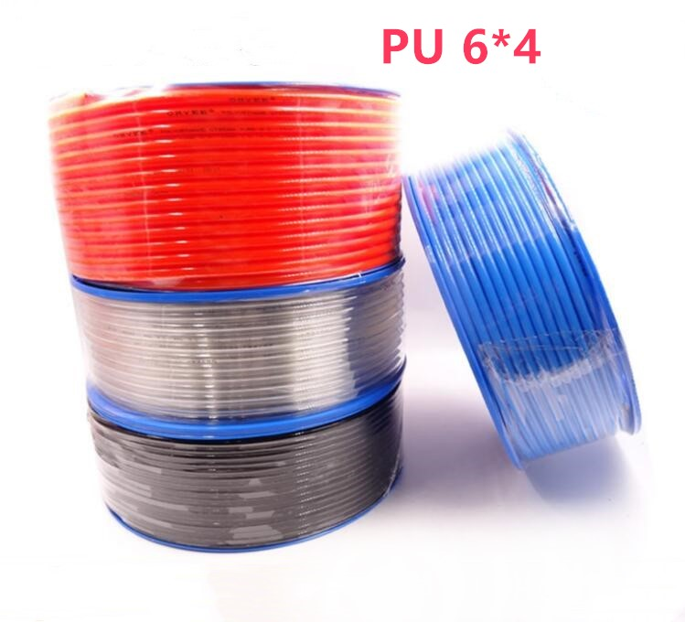 5 meters/lot PU6*4 6 mm OD4 mm Pneumatic hose PU tube air compressor tube /6*4 цена