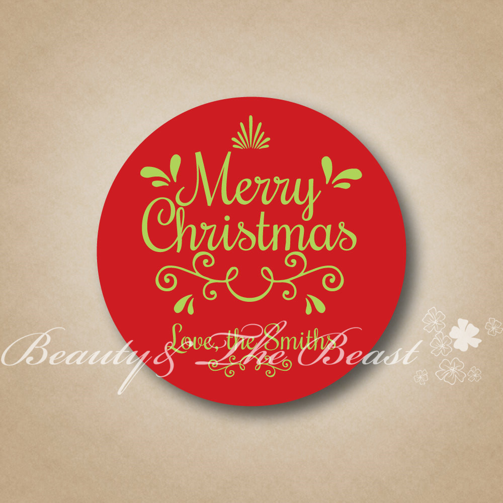 Personalized Holidays Candy Box Stickers,Merry Christmas Tags,Gift ...