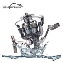 Gold Sharking 13+1BB Gapless Spining Wheel Biaxial System Fishing Reels Anti-seawater Corrosion Metal Hollow Line Cup peche