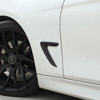2pcs For BMW F30 F35 316I 320I 328I 330I 335I Car Accessories Fender Vents Decorative Cover Trim Stickers Car Styling 2013 2017