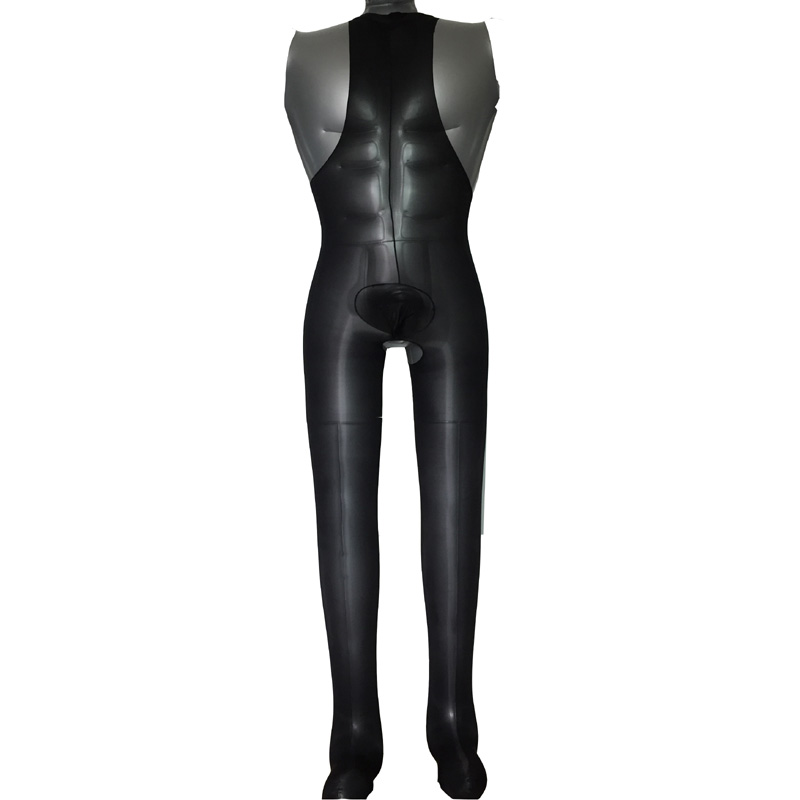 Sexy Men Full Body Oil Shine Tank Top Bodystocking With Crotch Trunk Sheath Sheer Glossy Sissy Stockings Nylons Bodysuit