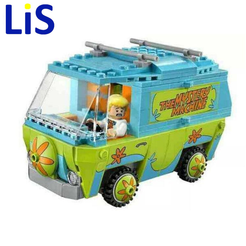 (Lis)10430 Scooby Doo Mystery Machine Bus Building Block Mini Toys with 75902 Christmas gift ynynoo 305pcs 10430 the mystery machine scooby doo fred shaggy zombie zeke toys building blocks christmas gift sa562