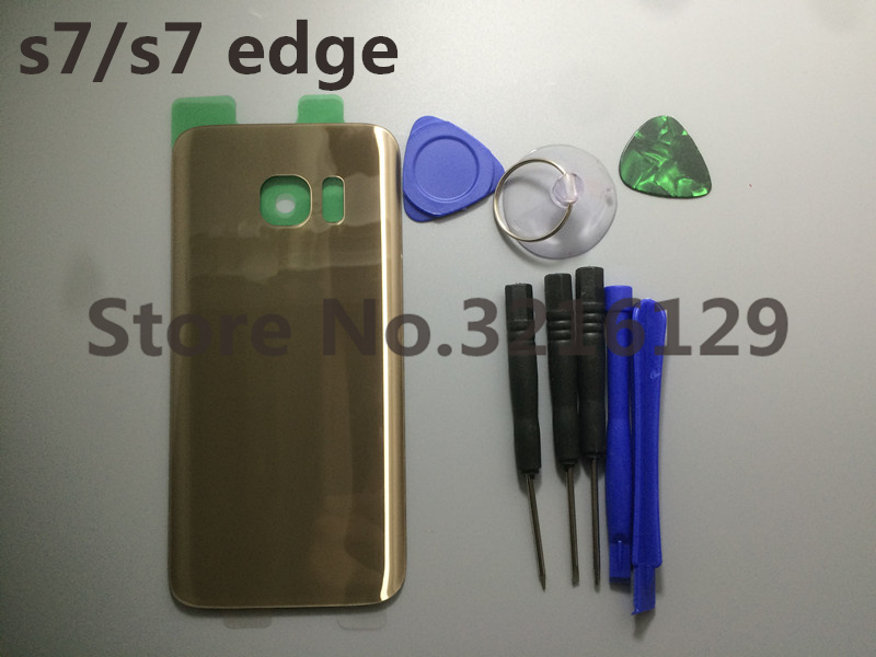 Replacement Original Rear Panel Battery Glass Back Door Cover For Samsung Galaxy s7 G930 S7 edge G935 G935F/A/P/T+tool